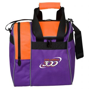 Columbia 300 Single Tote Purple Orange Bowling Bag