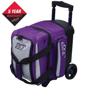 Icon single roller purple silver bowling bag