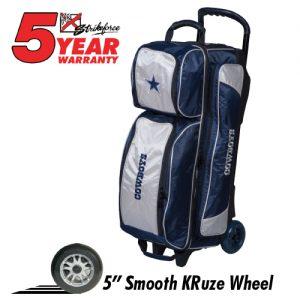 NFL Triple Ball Roller Bowling Bag- Dallas Cowboys