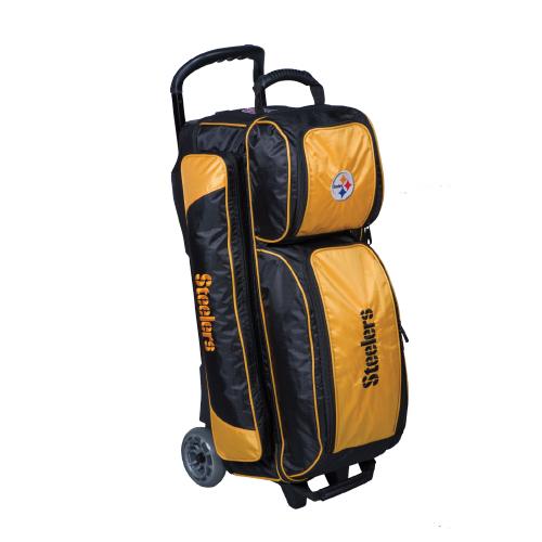 Nfl Triple Roller Bowling Ball Bag Pittsburgh Steelers